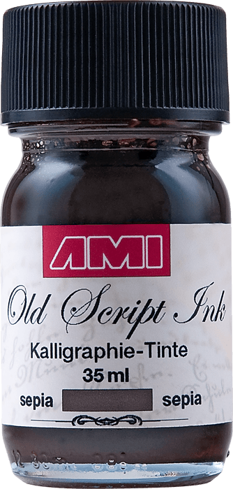 Old Script Ink (kalligraphie) 35ml sepia
