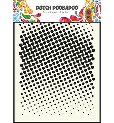 Dutch Mask Art Stencils faded dots - A5