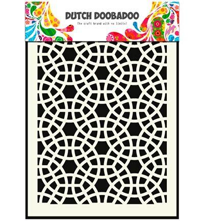 Dutch Mask Art Stencil Mosaic