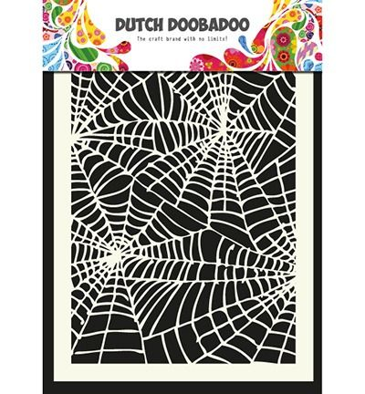 Dutch Mask Art stencil Spiderweb