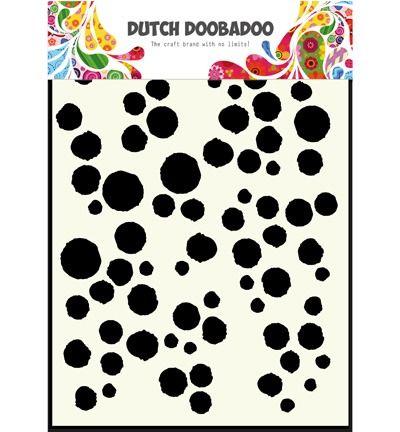 Dutch DooBaDoo Mask Art A5 Grunge Dots