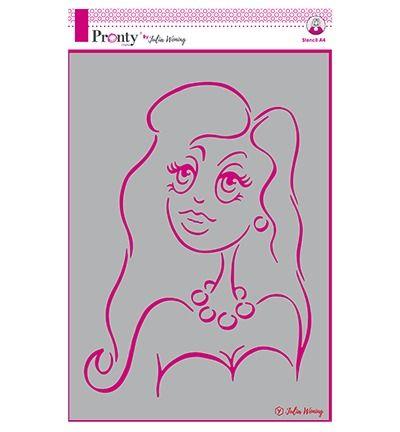 Julia Woning Stencil Classy lady