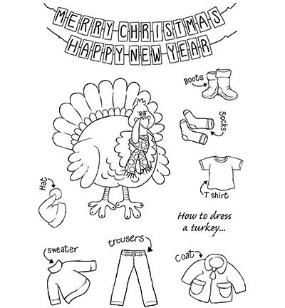 Creative Expressions Woodware Clear Stamp Jane Gill Turkey