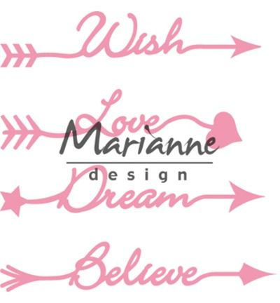 Marianne Design Collectables Arrow sentiments