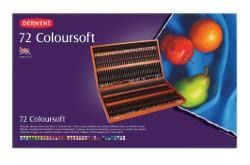 Houten Box 72 Derwent Coloursoft potloden