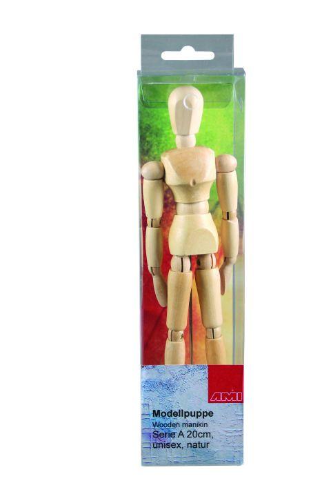 Ledenpop Serie A 15cm unisex naturel