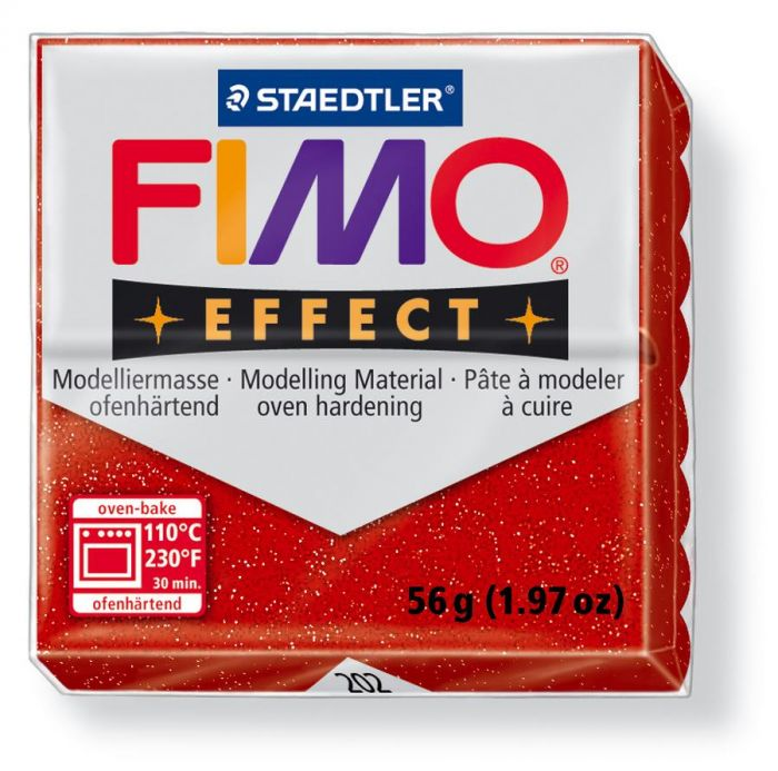 Fimo Effect glitter rood 56GR