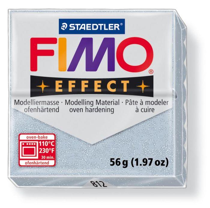 Fimo Effect glitter zilver 56GR