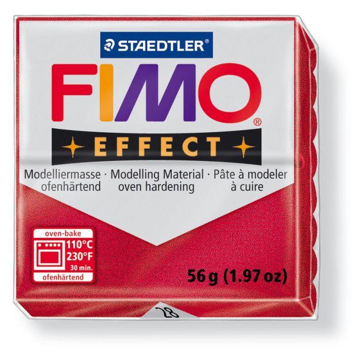 Fimo Effect metallic robijnrood 56GR