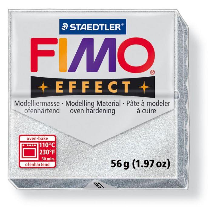Fimo Effect metallic zilver 56GR