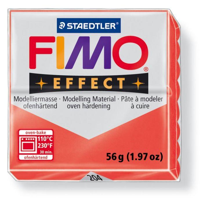 Fimo Effect translucent rood 56GR