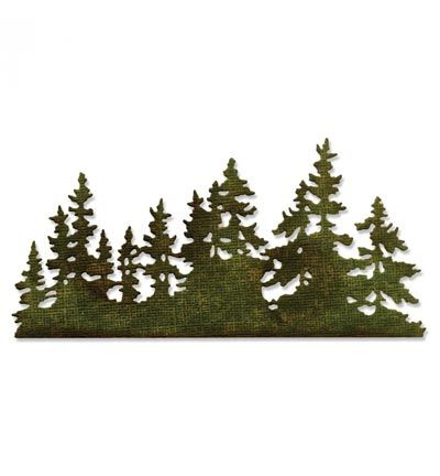 Sizzix Tim Holtz - Thinlits Tree Line