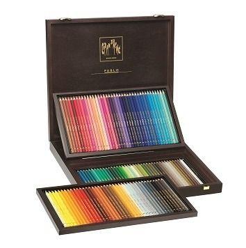 Supracolor Houten koffer. 120 kleurpotloden