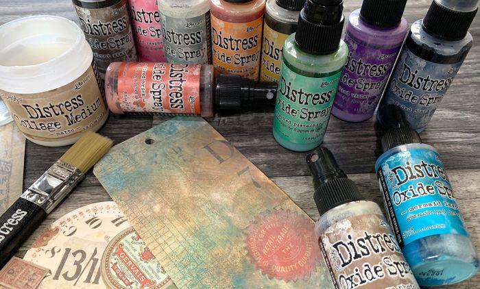 Distress Oxide Spray (set 12 kleuren)
