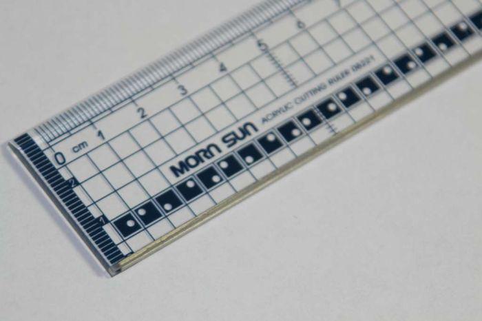 Snijlineaal transparant 20 cm met metalen rand