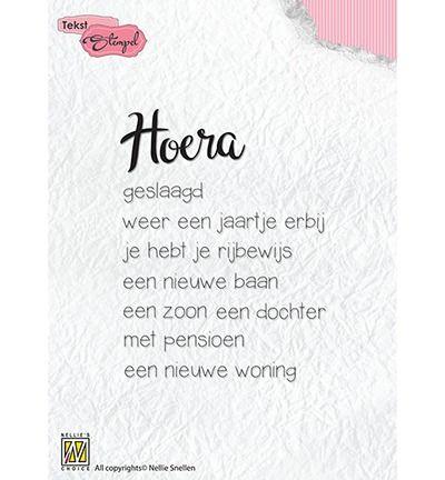 Nellie's Choice Dutch Texts stamp Hoera: diverse gelegenheden