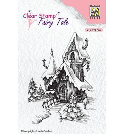 Nellie's Choice Fairy Tale stamp Fairy winter castle