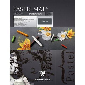 Pastelmat pad N°6 Anthracite 360g 18x24 12vel