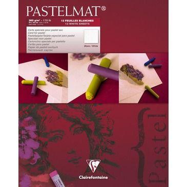 Pastelmat pad N°3 white 360g 24x30cm 12 vel