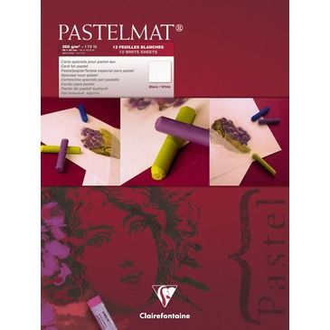 Pastelmat pad N°3 white 360g 30x40cm 12 vel