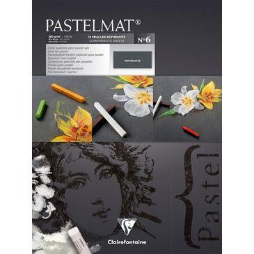Pastelmat pad N°6 Anthracite 360g 30x40 12vel