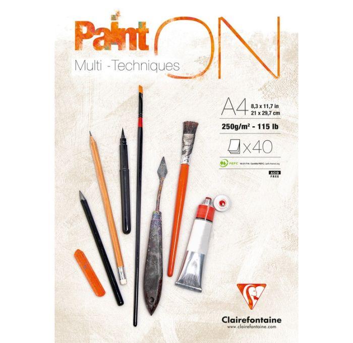 Clairefontaine PaintOn papier, Multi-Techniques A4 250 g/m2 40 vel