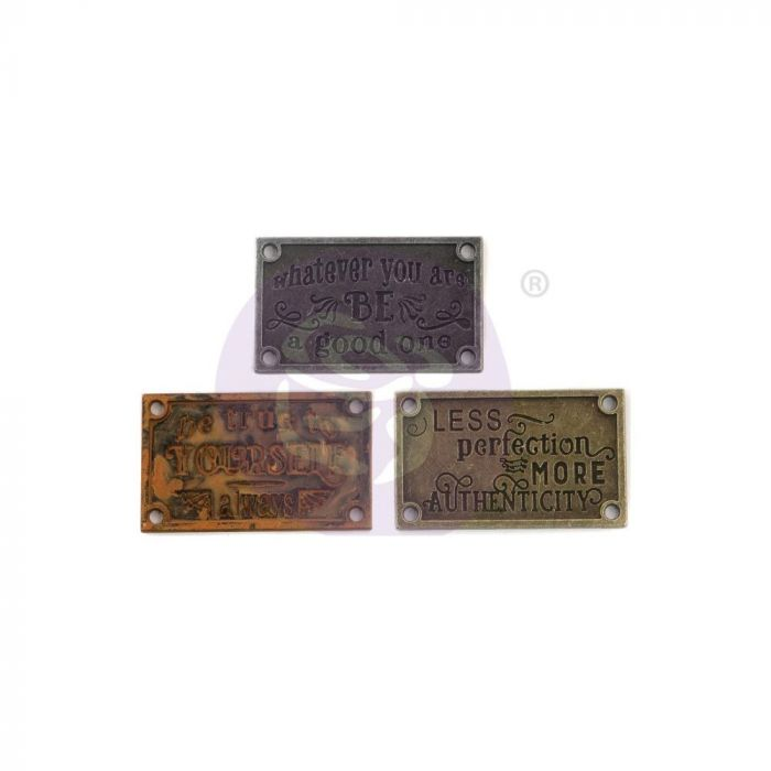 Finnabair Mechanicals Metal Embellishments Old Plates 3/Pkg
