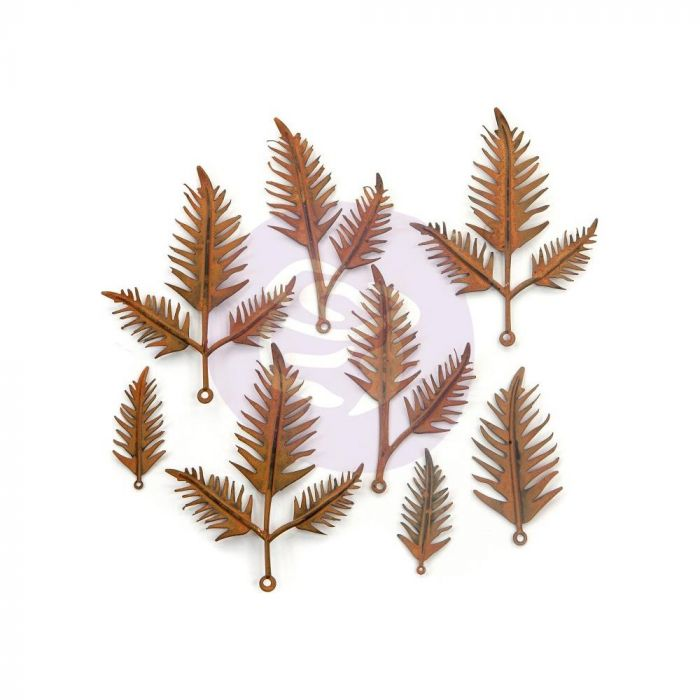 Finnabair Mechanicals Metal Embellishments Woodland Fern 8/Pkg
