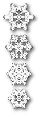 Memorybox Batavia Stitched Snowflakes craft die
