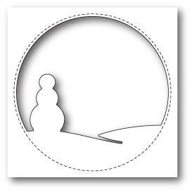 Memorybox Stitched Circle Snowman craft die