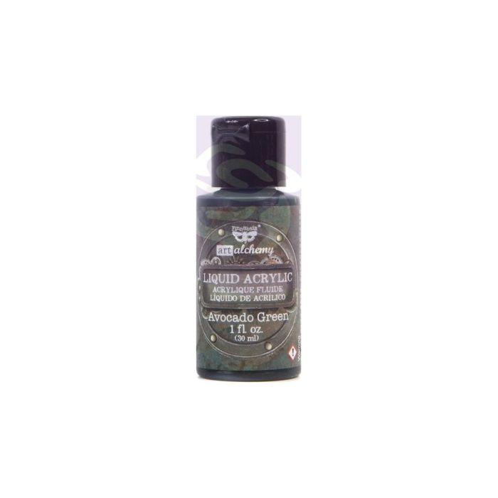 Finnabair Art Alchemy Liquid Acrylic Paint 1 Fluid Ounce Avocado Green