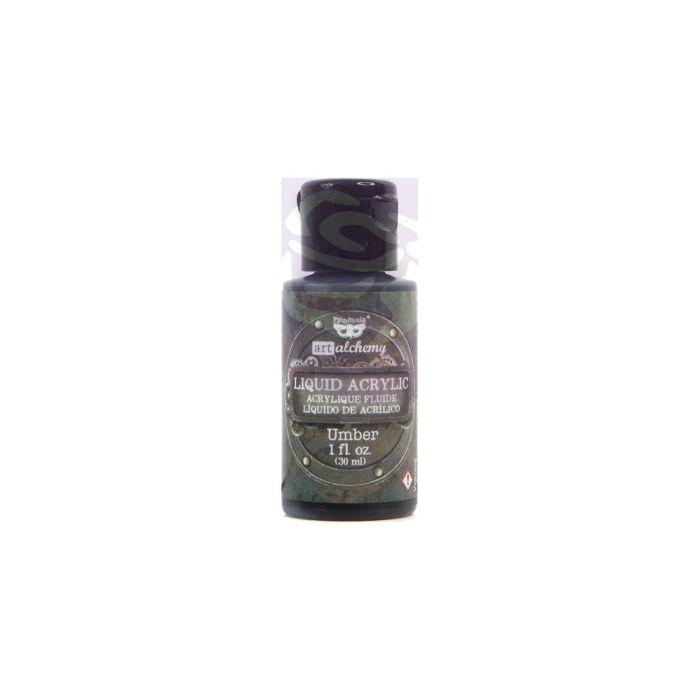 Finnabair Art Alchemy Liquid Acrylic Paint 1 Fluid Ounce Umber