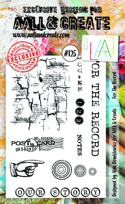 AALL & Create A6 Stamp set #125