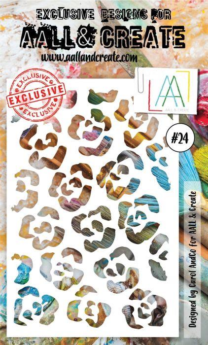 AALL & Create 6'x4' (15x10cm) Stencil #24