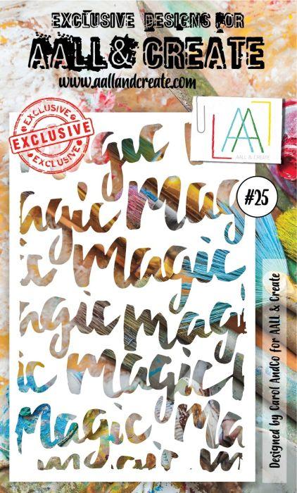 AALL & Create 6'x4' (15x10cm) Stencil #25