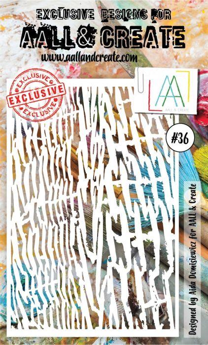 AALL & Create 6'x4' (15x10cm) Stencil #36