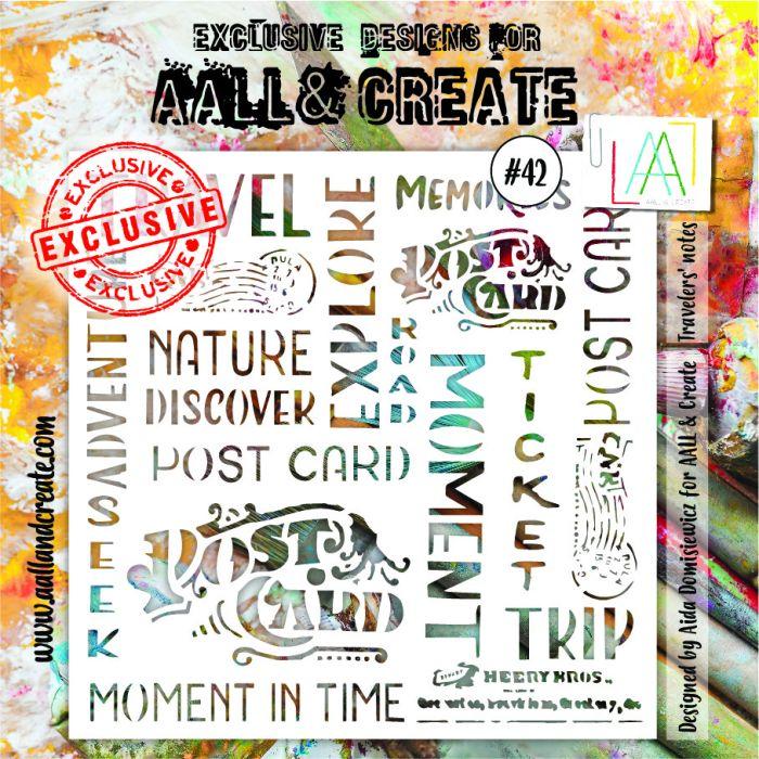 AALL & Create 6'x6' (15x15cm) Stencil #42