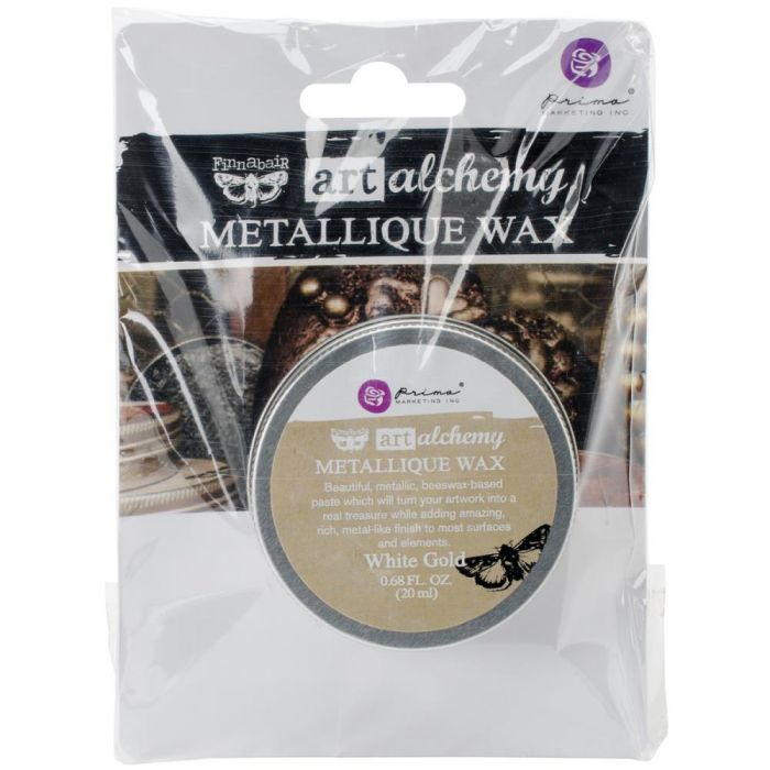 Finnabair Art Alchemy Metallique Wax .68 Fluid Ounce White Gold