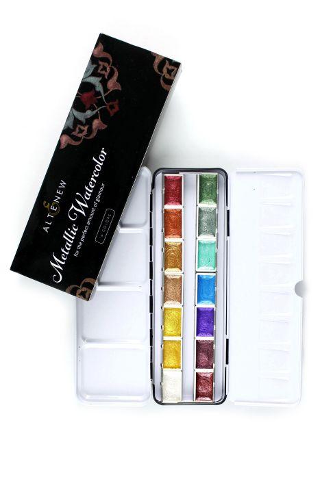 Altenew Watercolor Metallic Watercolor 14 Pan Set