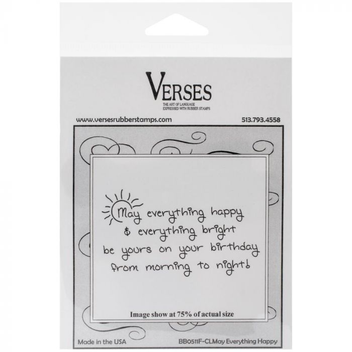 verses Cling Mounted Rubber Stamp / May Everything Happy