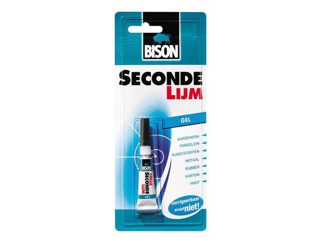 Bison Secondelijm gel 3gr. tube blister