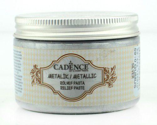 Cadence Metallic Relief Pasta Zilver 01 085 5910 0150  150 ml