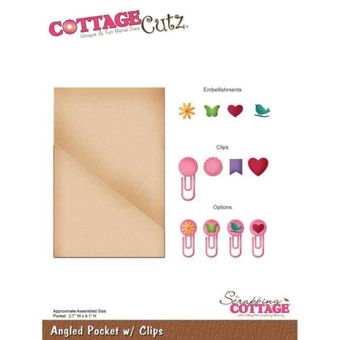 CottageCutz Die  Angled Pocket W/Clips