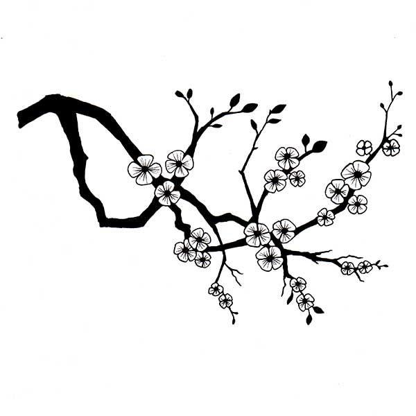 Lavinia Stamps  Cherry Blossom