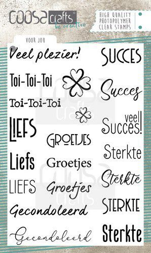 COOSA Crafts clearstamps A6 - Voor jou (NL)