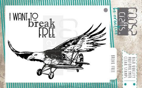 COOSA Crafts clearstamps A7 -  Break Free A7