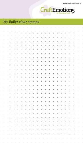 CraftEmotions clearstamps A6 - Bullet Journal - Bullet dots