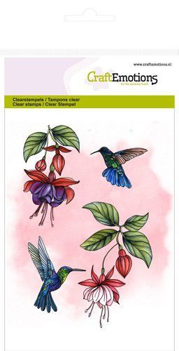CraftEmotions clearstamps A6 - fuchsia kolibrie GB