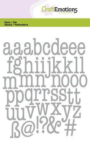 CraftEmotions Die - alfabet typewriter kleine letters Card 10