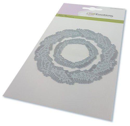 CraftEmotions Die - krans van dennentakken Card 10,5x14,8cm